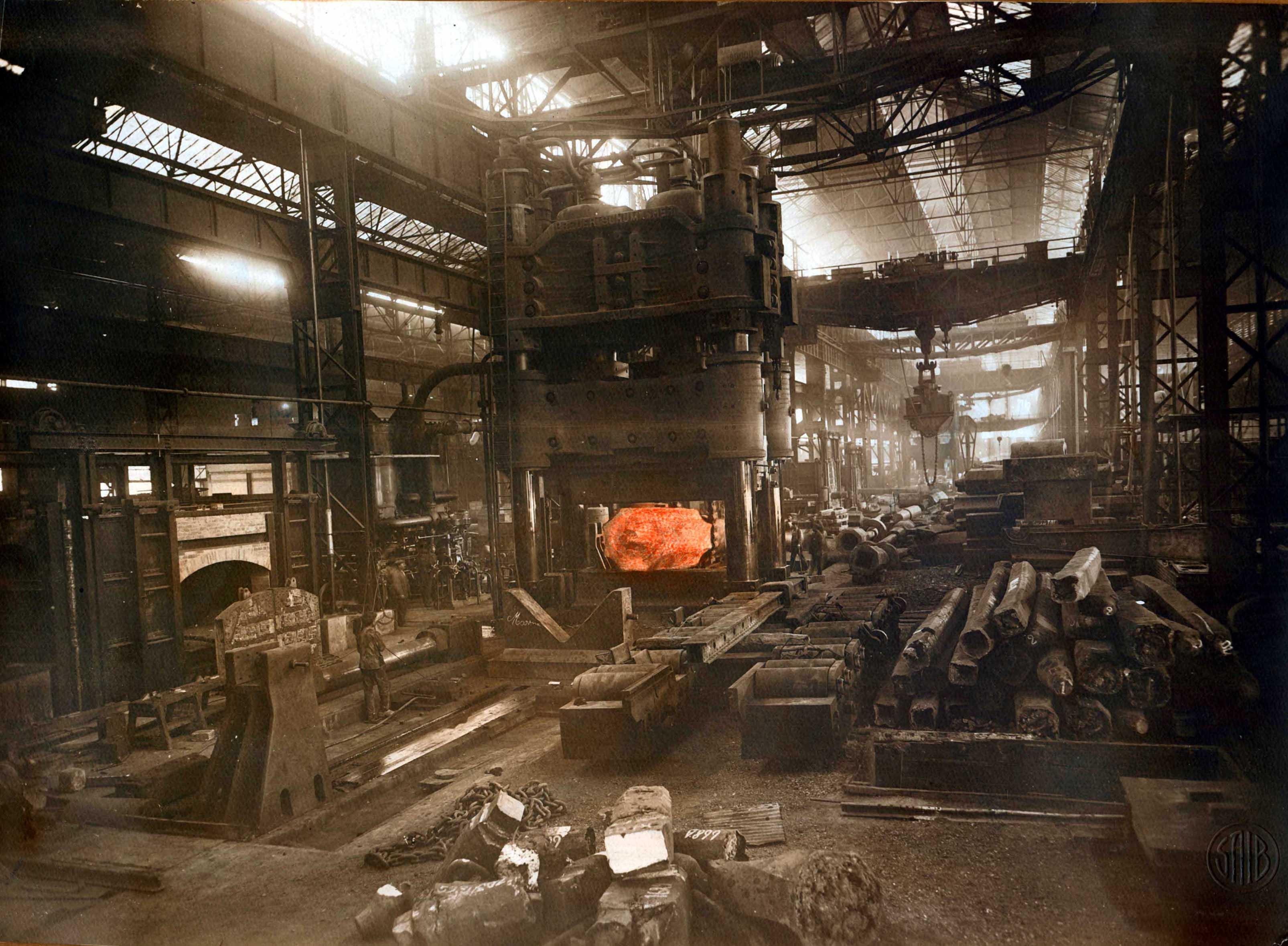 Stabilimento Acciaierie e Fonderie Ansaldo, stabilimenti, Genova 1916