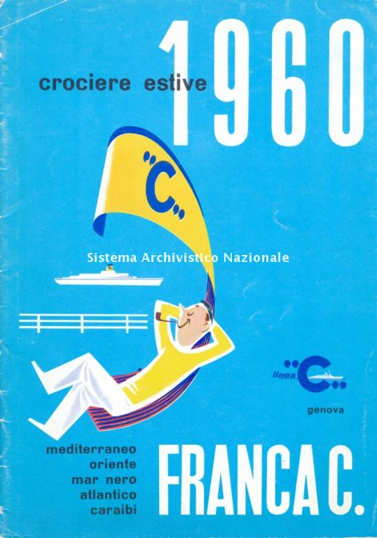 Costa Crociere, depliant pubblicitario, Genova 1960