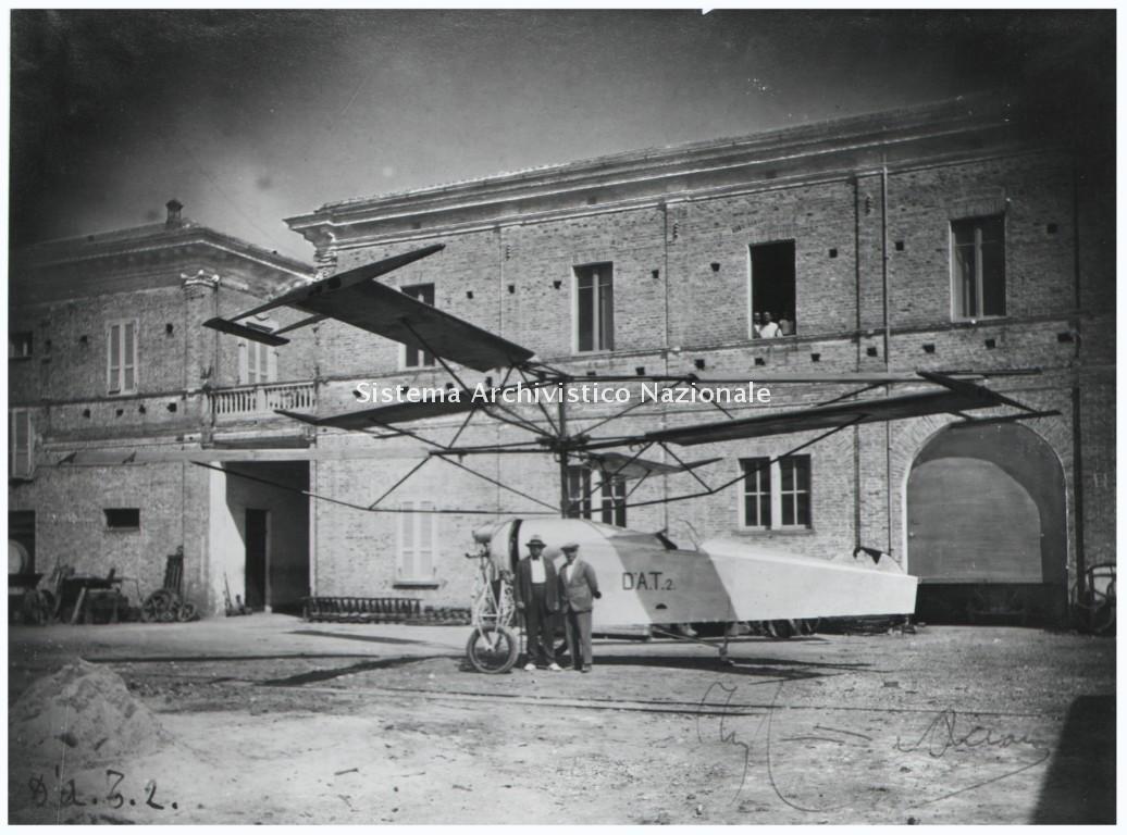 Ditta G. Camplone & Figli, elicottero DAT 2, Pescara 1926