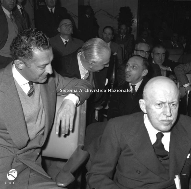 Giovanni Agnelli e Alberto Pirelli, Roma 26 gennaio 1957