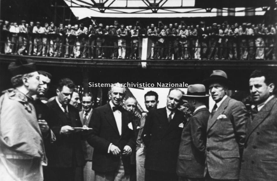 Stabilimento Ilva di Bagnoli, inaugurazione, Napoli 1946