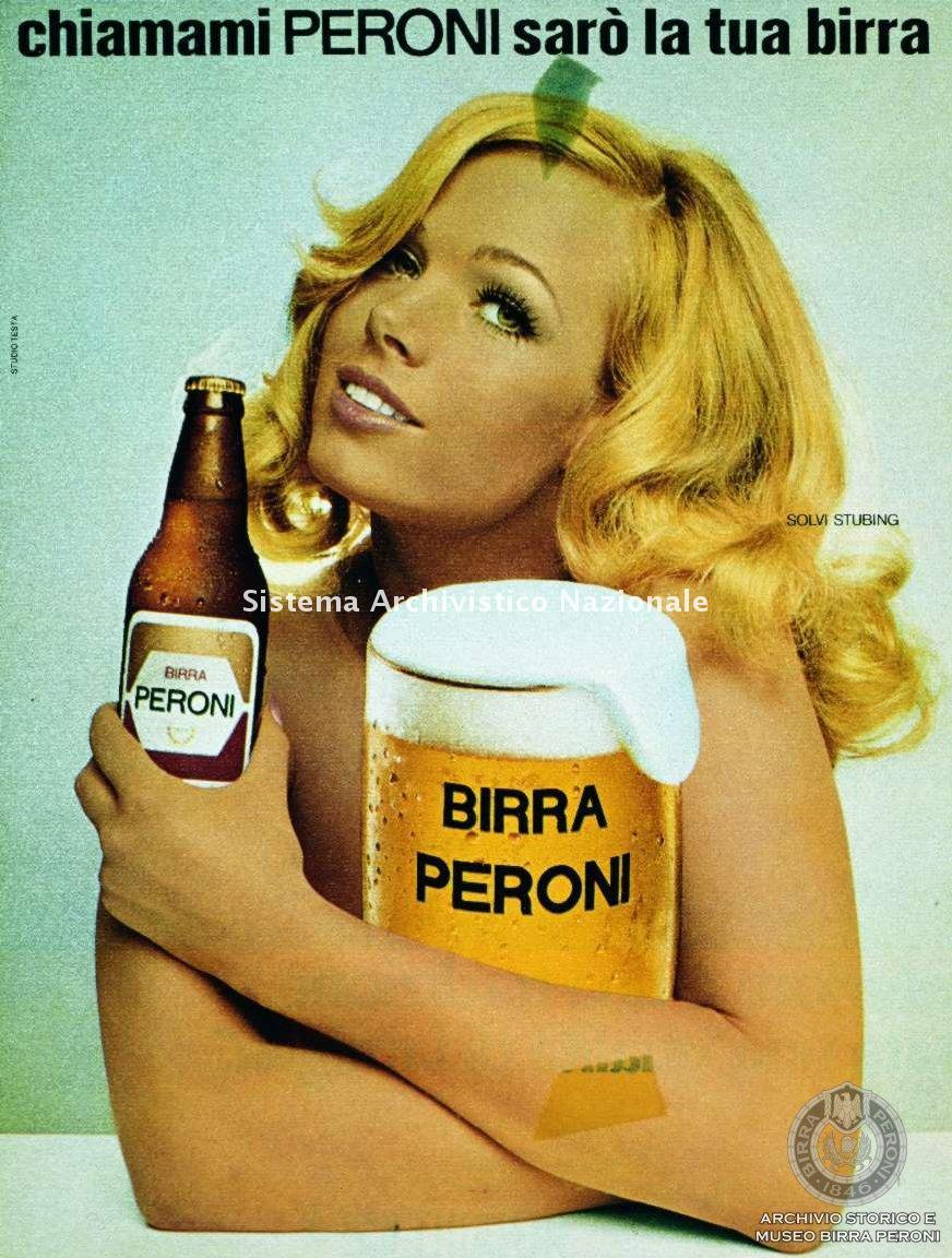 Birra Peroni, manifesto pubblicitario, 1970