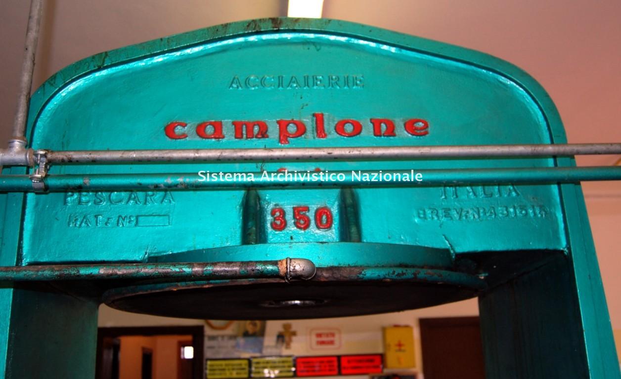 Fonderie Camplone, presse olearie, Pescara anni '60