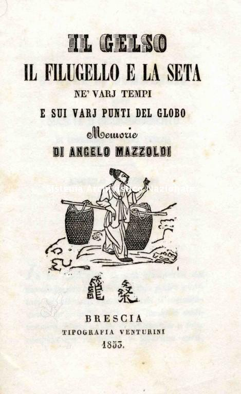 Angelo Mazzoldi, opuscolo, Brescia 1853