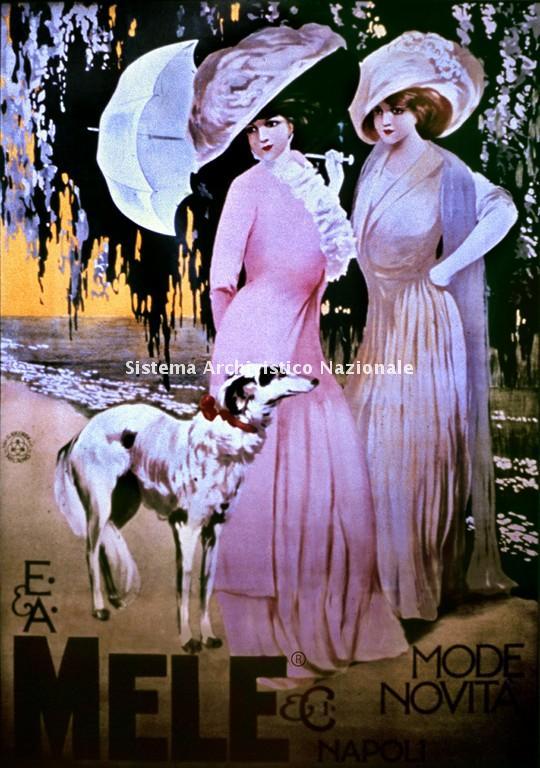 E. & A. Mele & C., manifesto pubblicitario, 1900
