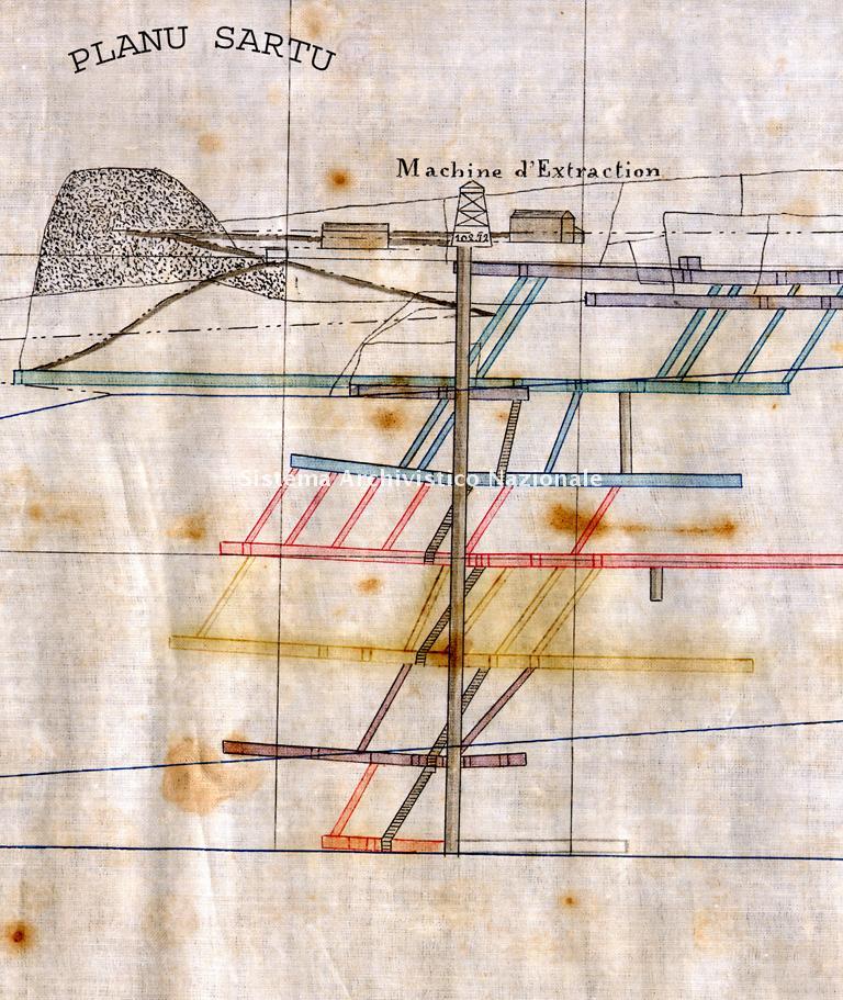 Planu Sartu, macchina per estrazione, 1900 ca.