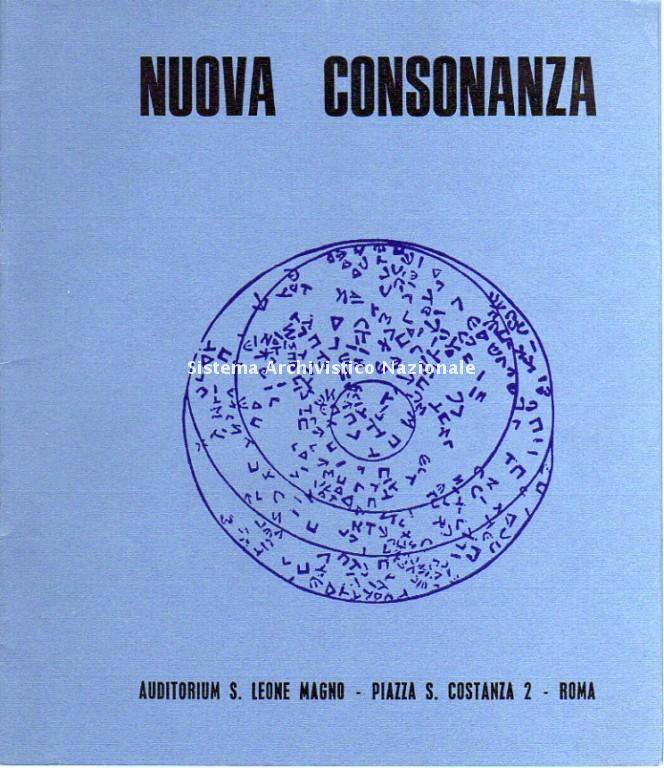 Nuova Consonanza, programma di sala, Roma 1970