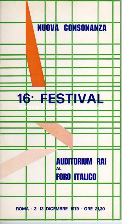 16° Festival di Nuova Consonanza, programma, Roma 1979