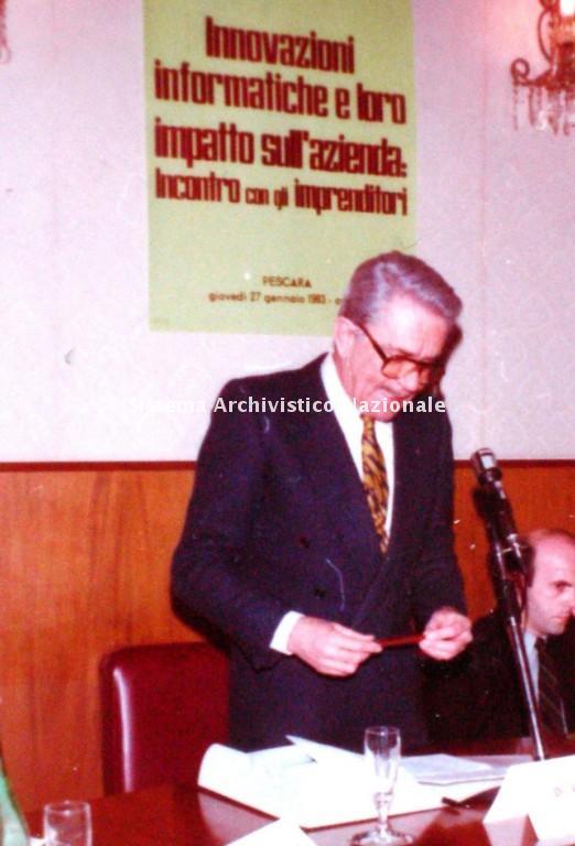 Gilberto Ferri, convegno, Pescara 1983