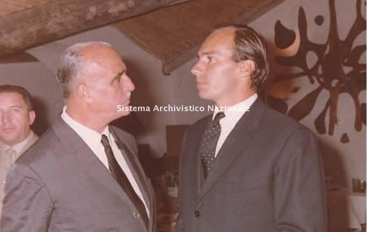 Michele Busiri Vici con il principe Aga Khan, Porto Cervo 1963