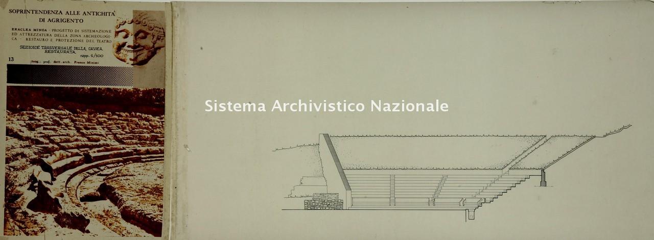 Franco Minissi, Restauro conservativo del Teatro Greco Eraclea di Minoa, 1960-1963