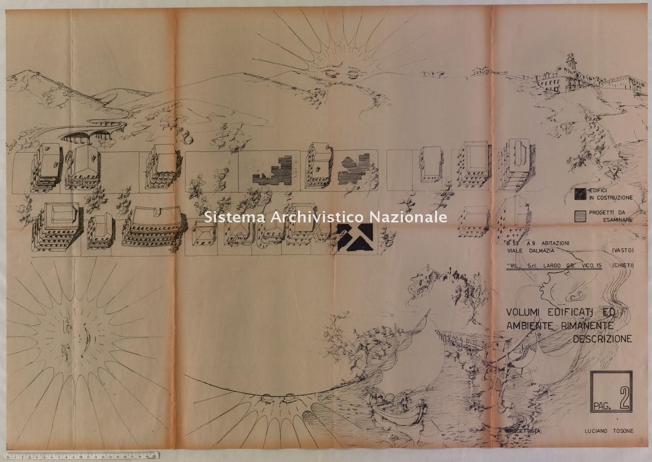 Luciano Tosone, Progetto per abitazioni in viale Dalmazia a Vasto, 1978-1979
