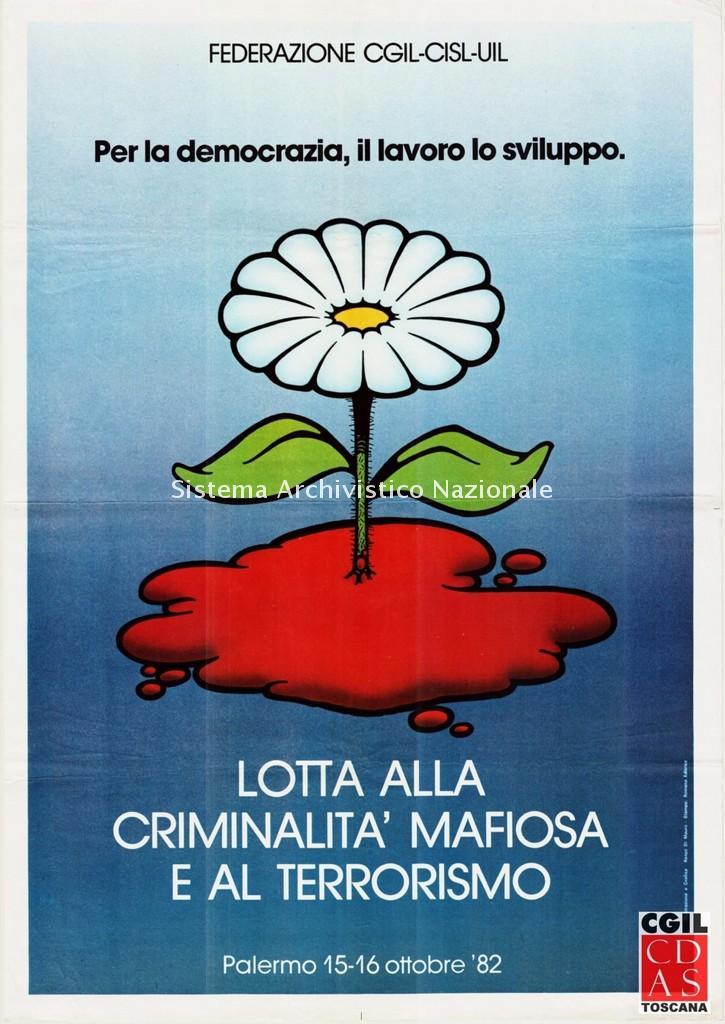 Cgil, Cisl, Uil, manifestazione, Palermo 15-16 ottobre 1982