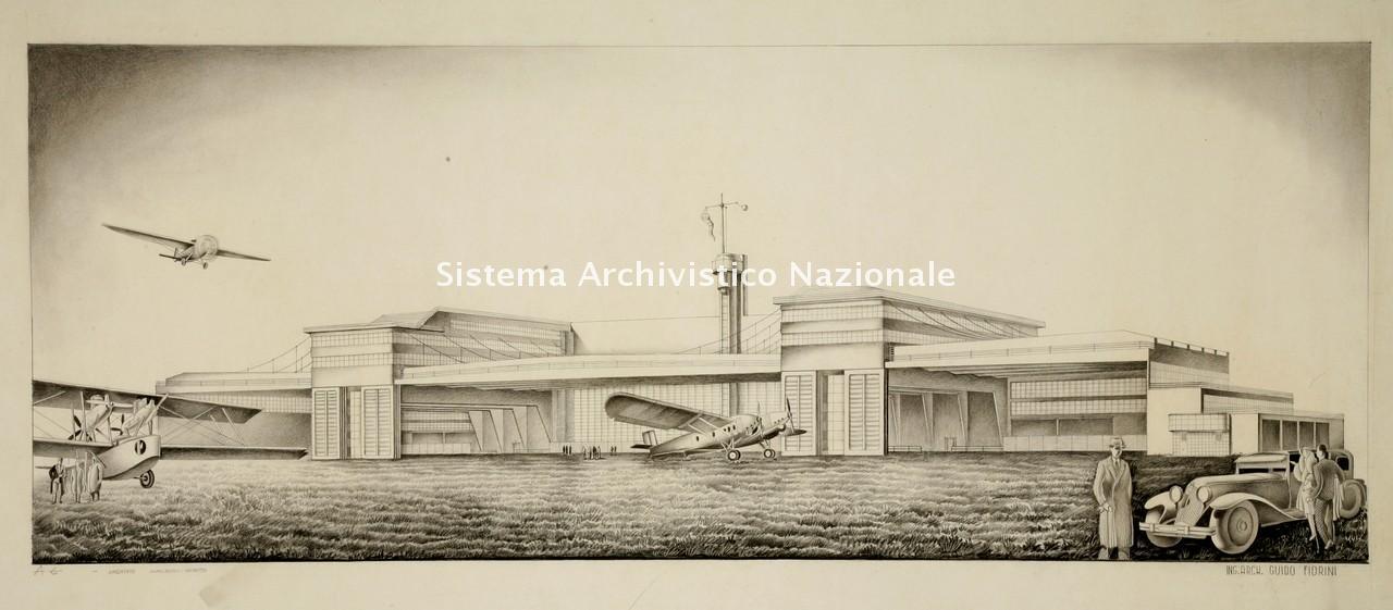 Guido Fiorini, Aeroporto di Milano Linate, 1933