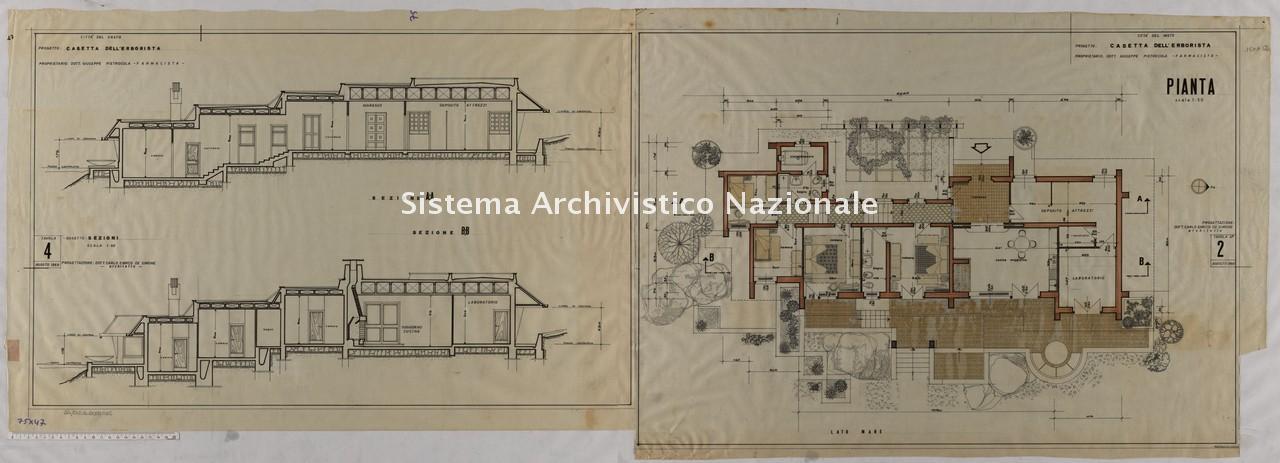 Carlo Enrico De Simone, Progetto per casetta dell'erborista a Vasto, 1969