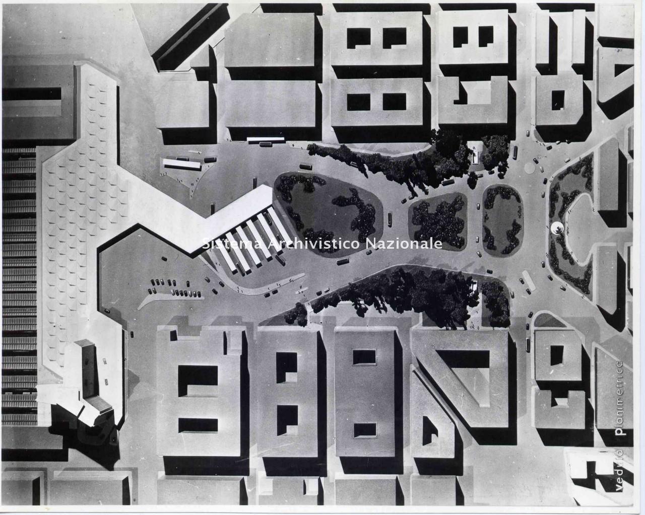 Bruno Zevi, Progetto per la nuova stazione di Napoli centrale, 1954