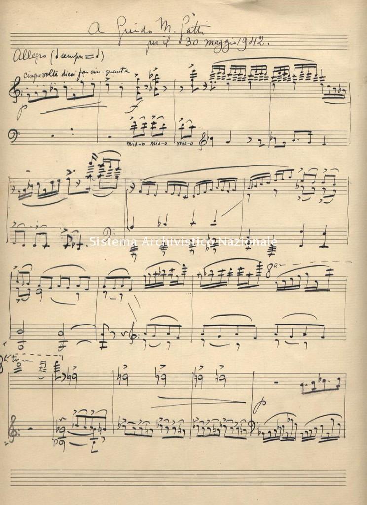 Gian Francesco Malipiero, composizione per pianoforte, 1942