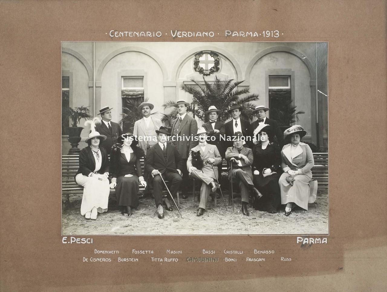 Centenario verdiano, Parma 1913