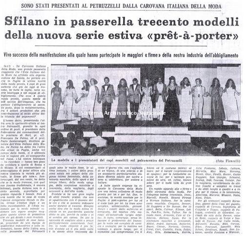 La Carovana della moda, Bari 1969