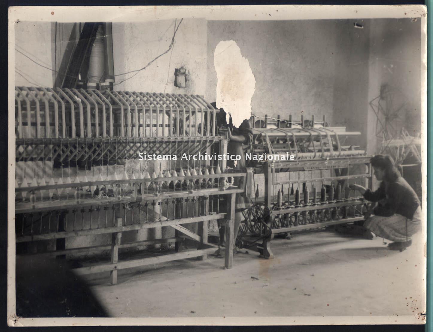 Lanificio Leo sas, reparto filatura, Soveria Mannelli 1950