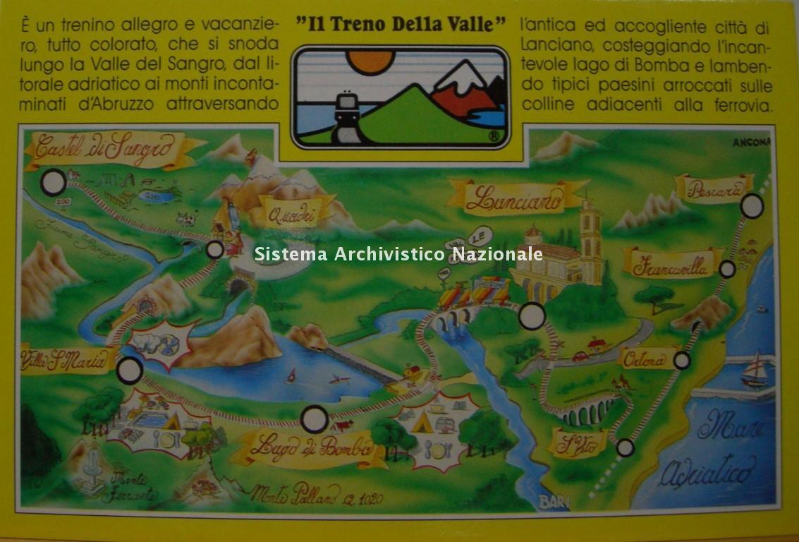 Ferrovia Adriatico Sangritana, manifesto pubblicitario, 1995