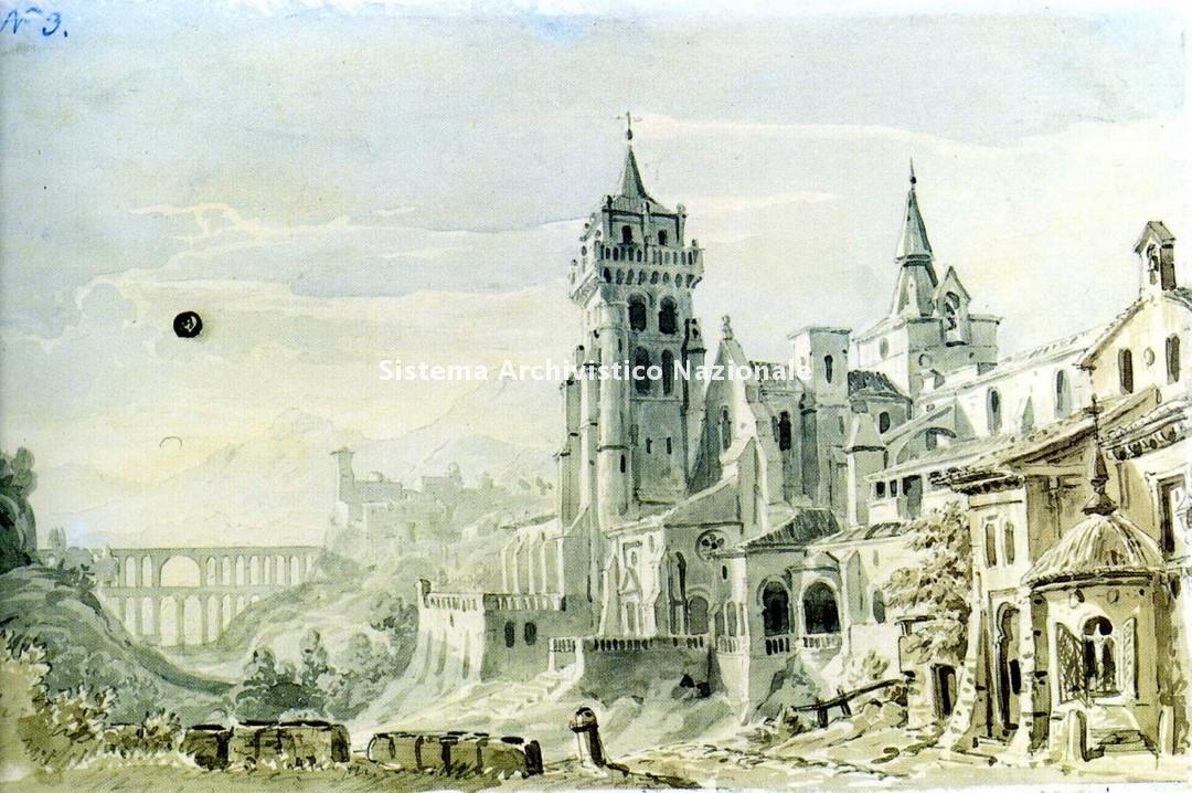 Andreas Leonhard Roller, bozzetto per La forza del destino, 1862