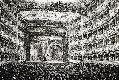 Incisione raffigurante la sala del Teatro La Fenic...