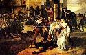 Olio su tela di Francesco Hayez dal titolo I vespr...
