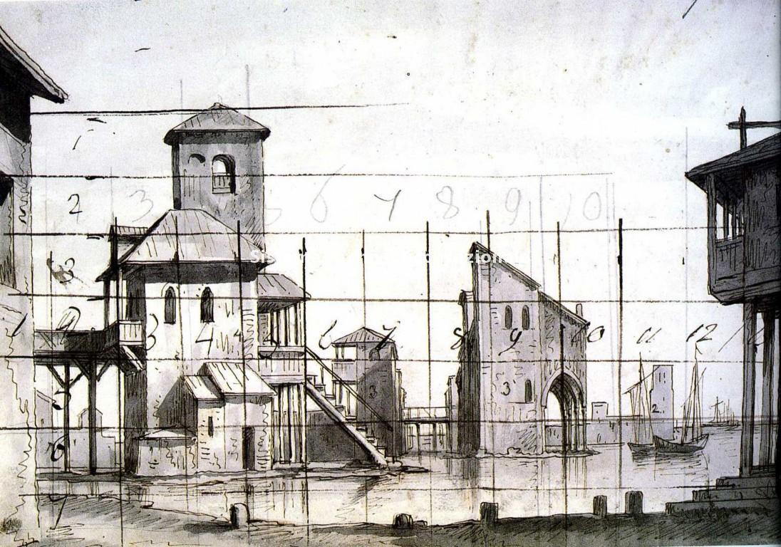 Romolo Liverani, bozzetto per Attila, 1850