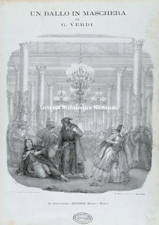 Frontespizio dell'opera Un ballo in maschera, 1859
