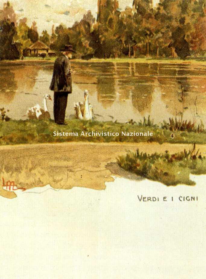 Leopoldo Metlicovitz, cartolina, 1913