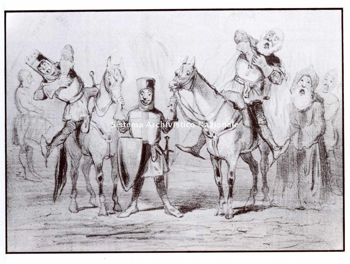 Caricatura relativa all'opera Jérusalem, Parigi sec. XIX