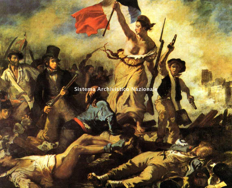 Eugène Delacroix, la Libertà che guida il popolo, Parigi 1830