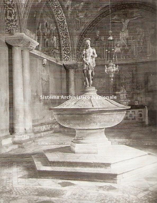 Battistero della Basilica di San Marco a Venezia, foto inizio sec. XX