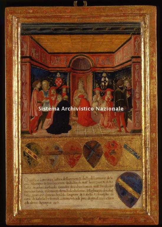 0033. Archivio di Stato di SIENA. Collezione delle Tavolette di Biccherna (ex Gabella). Inv. n. 33