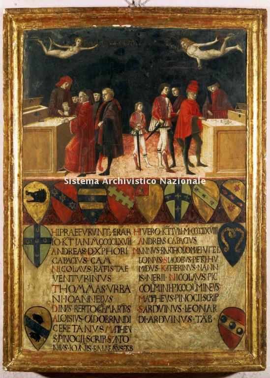 0035. Archivio di Stato di SIENA. Collezione delle Tavolette di Biccherna (ex Gabella). Inv. n. 35