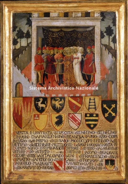 0037. Archivio di Stato di SIENA. Collezione delle Tavolette di Biccherna (ex Gabella). Inv. n. 37