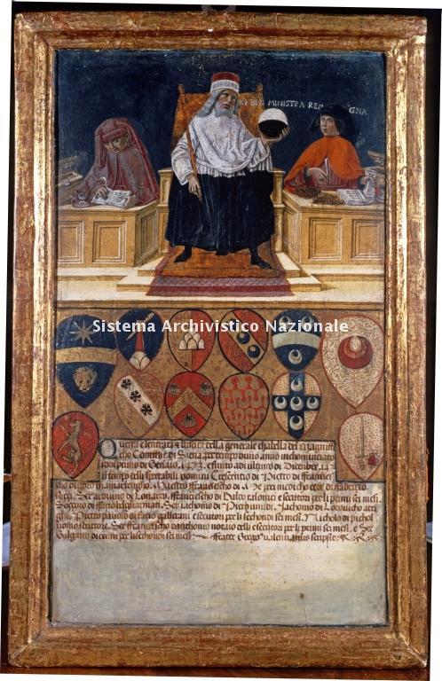 0038. Archivio di Stato di SIENA. Collezione delle Tavolette di Biccherna (ex Gabella). Inv. n. 38