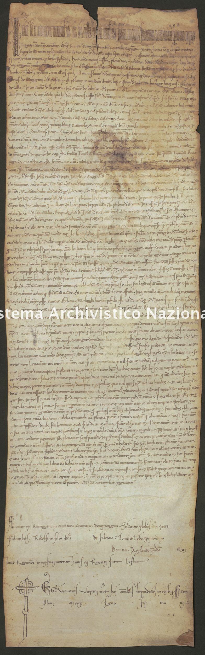 001. Carpegna Falconieri Gabrielli, Castellaccia, pergamena n. 1r