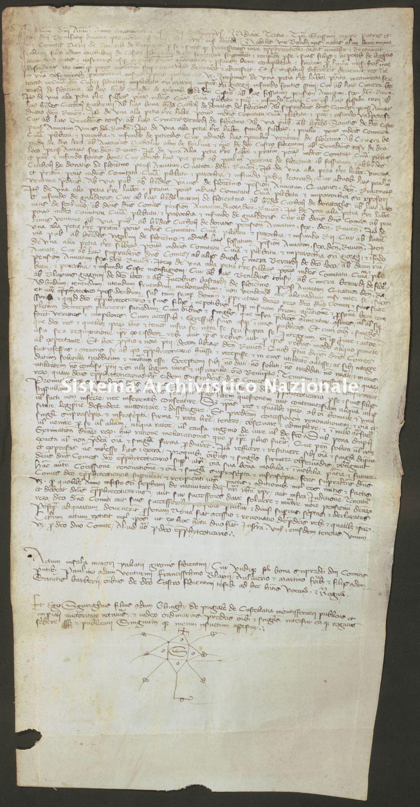014. Carpegna Falconieri Gabrielli, Scavolino, pergamena n. 14r