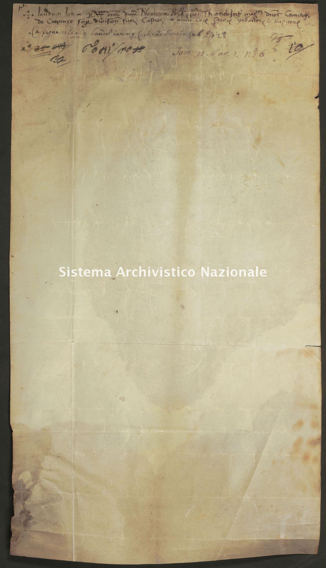 035. Carpegna Falconieri Gabrielli, Castellaccia, pergamena n. 35v