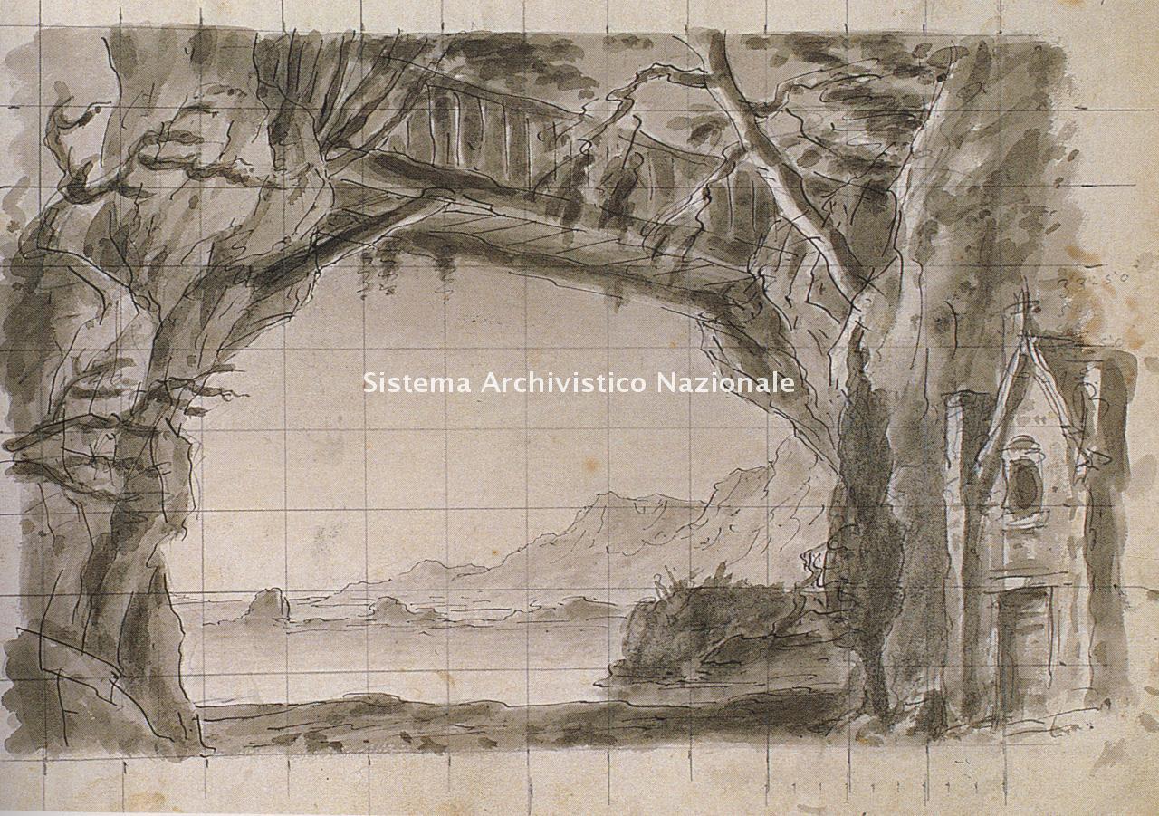 Giuseppe Bertoja, bozzetto per Aroldo, 1866-1867