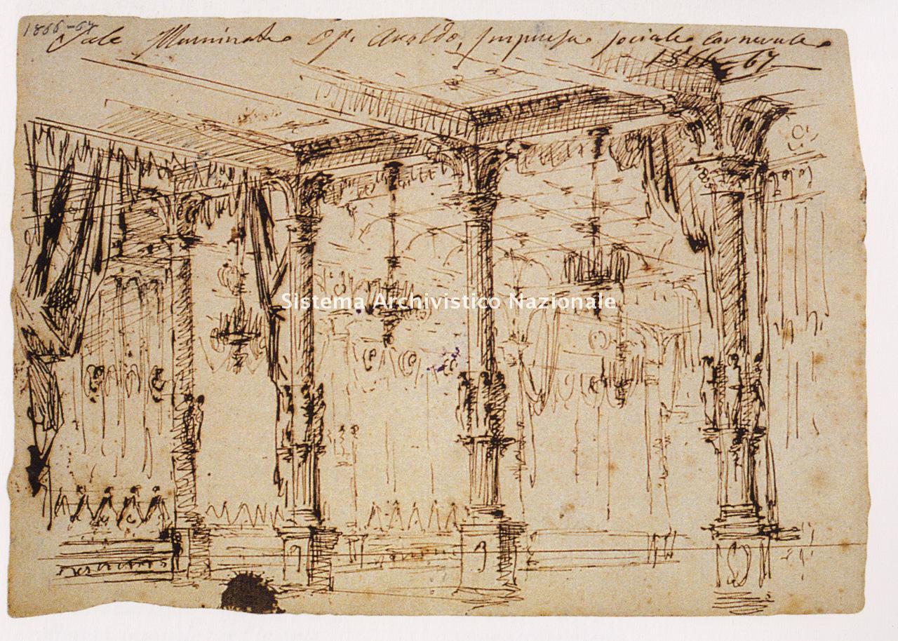 Ferdinando Manzini, bozzetto per Aroldo, 1866-1867