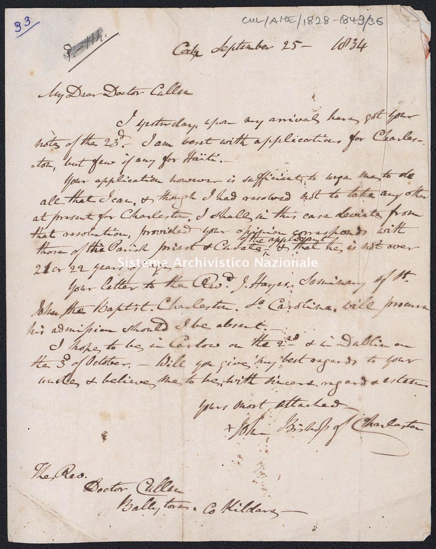 Pontificio Collegio Irlandese - Cullen_AME_1834_36