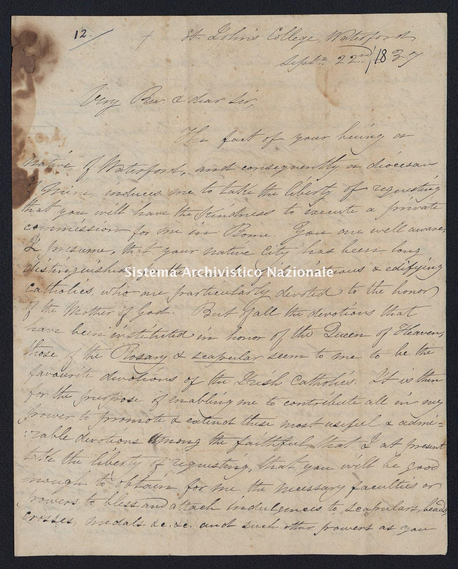 Pontificio Collegio Irlandese - Kirby_1837_12