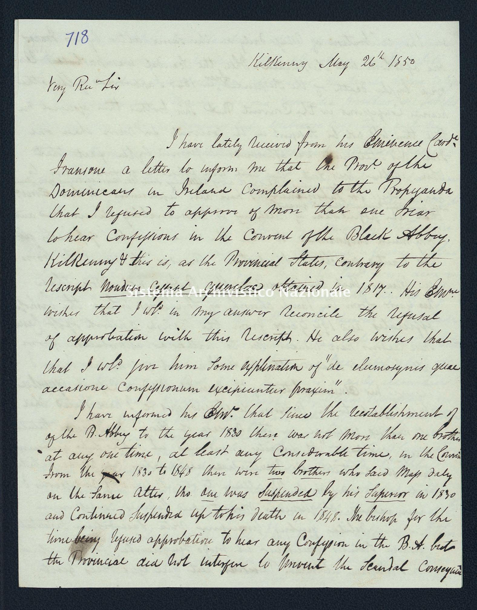 Pontificio Collegio Irlandese - Kirby_1850_718
