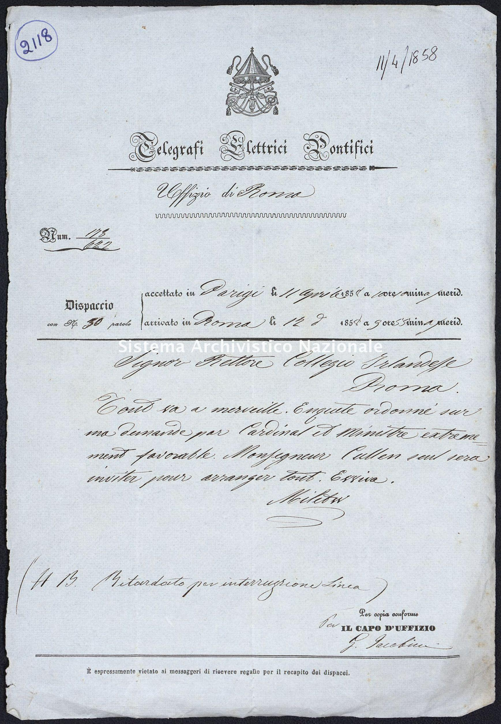 Pontificio Collegio Irlandese - Kirby_1858_2118