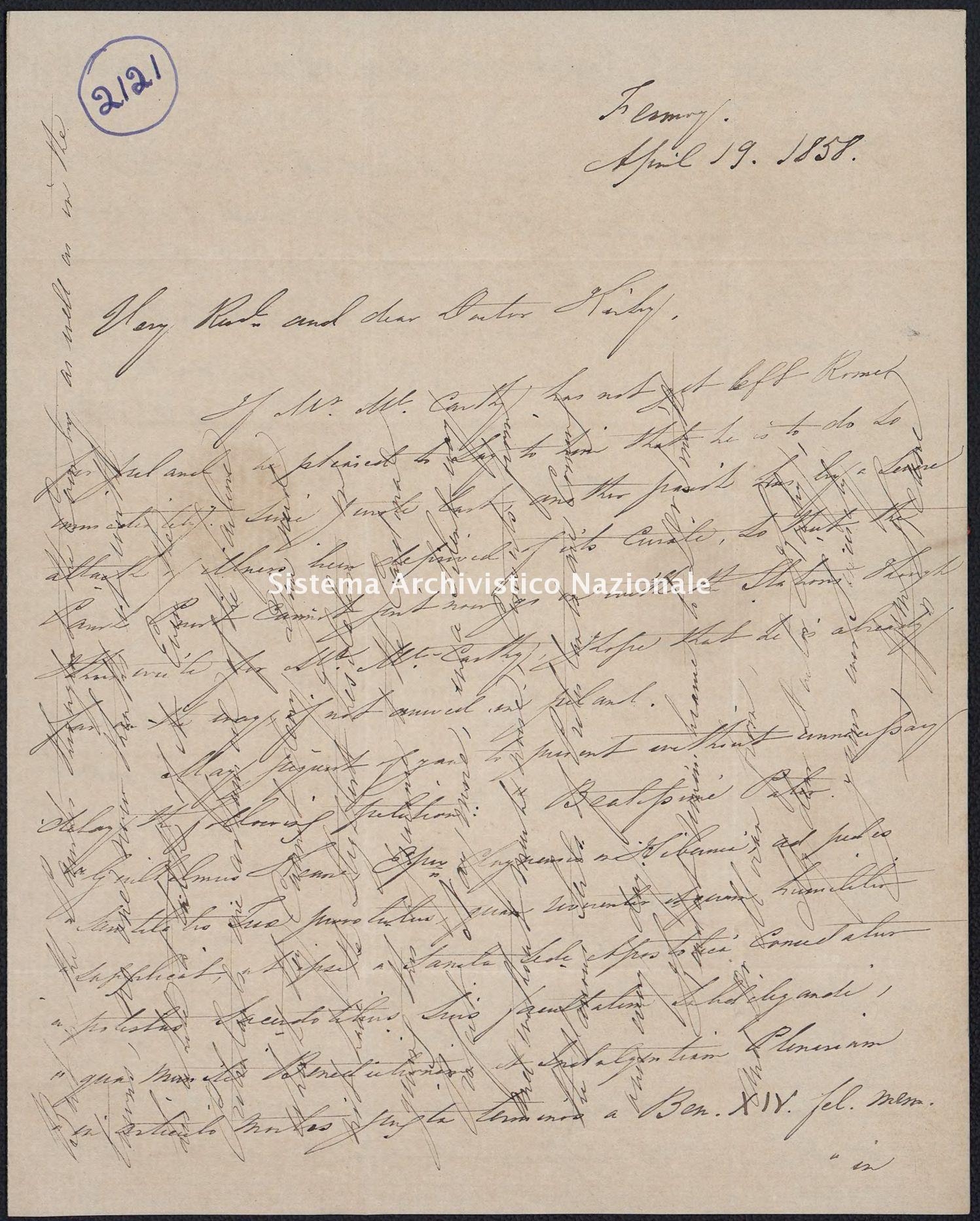 Pontificio Collegio Irlandese - Kirby_1858_2121