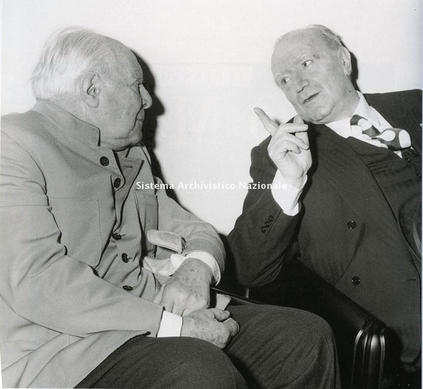 Gio Ponti e Gianni Mazzocchi, 1978