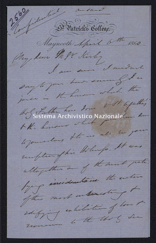 Pontificio Collegio Irlandese - Kirby_1860_2560